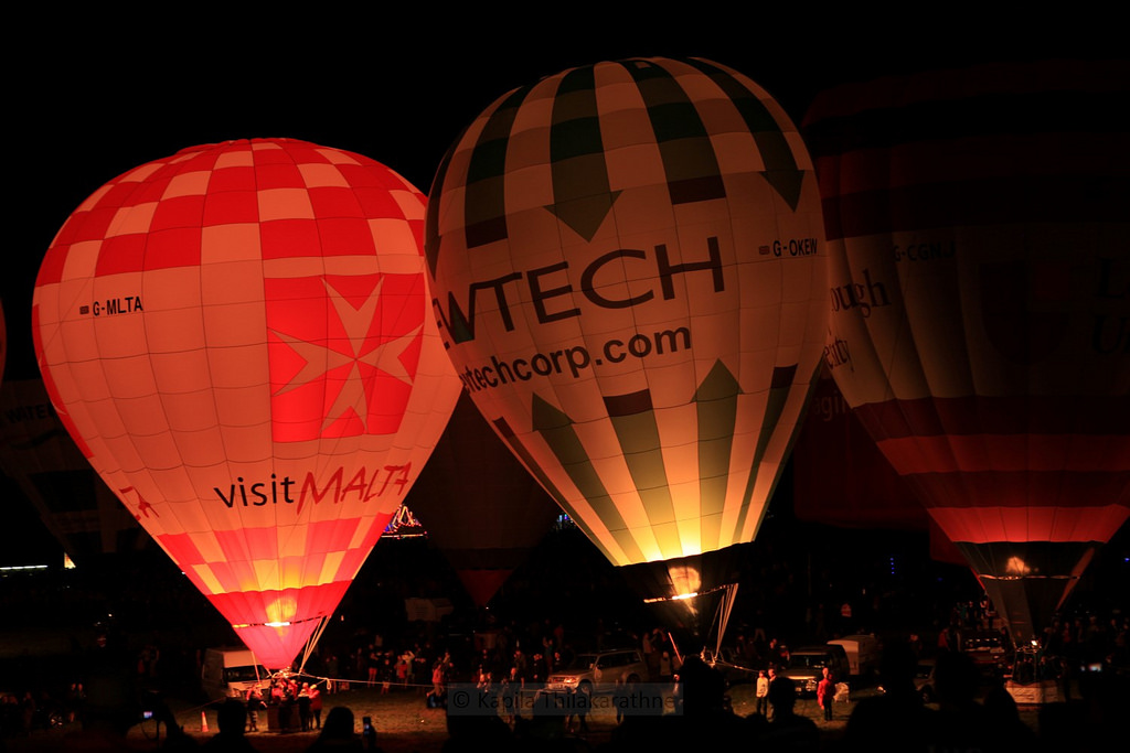 Bristol International Balloon Fiesta 2014 – Nightglows and Fireworks